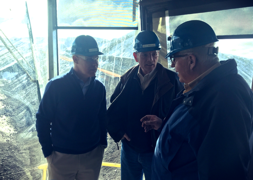 EPA Administrator Scott Pruitt and Wyoming Senators John Barrasso and Mike Enzi tour the Black Thunder Mine in Campbell County, Wyoming.
